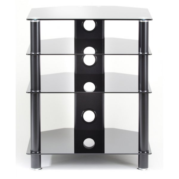 TNW Classik 4 Shelf Hi-Fi Stand - Black