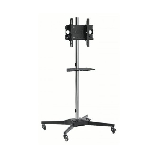 """Mount Massive TRL1-44 Single Pole TV Cart Trolley Stand For Up To 55\"""" 1.75m"""
