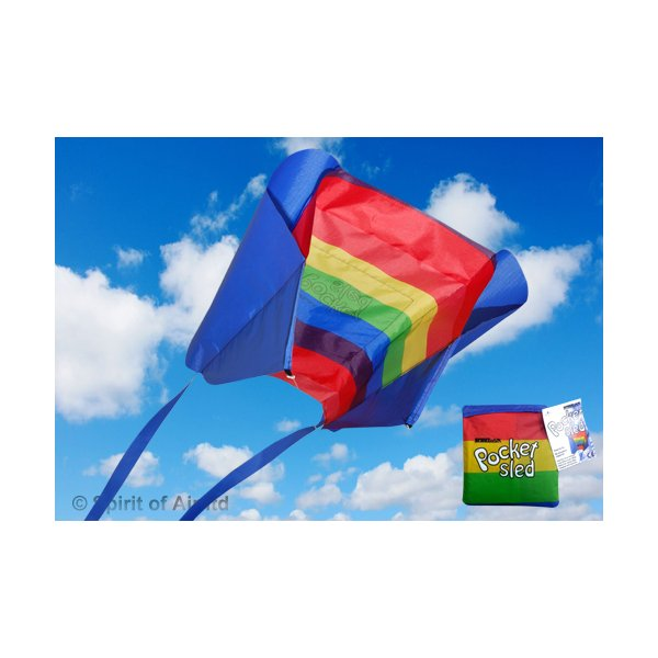 Pocket Sled Kite Rainbow