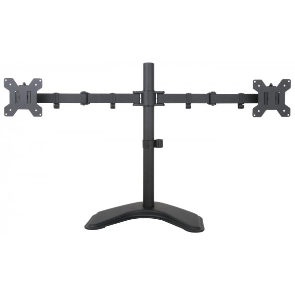 """Universal Twin Monitor Adjustable Desktop Stand for up to 27\"""" Monitors"""
