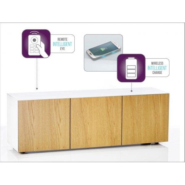 """Frank Olsen White and Oak Veneer TV Cabinet For TVs Up To 70\"""""""