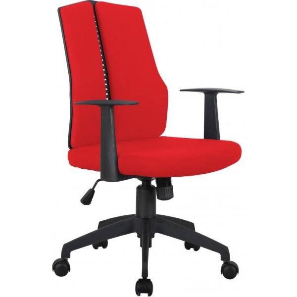 DSK CX1126M Computer Chair in Red Fabric
