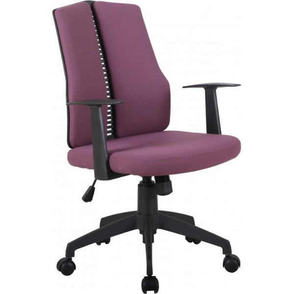 DSK CX1126M Computer Chair in Wine Fabric