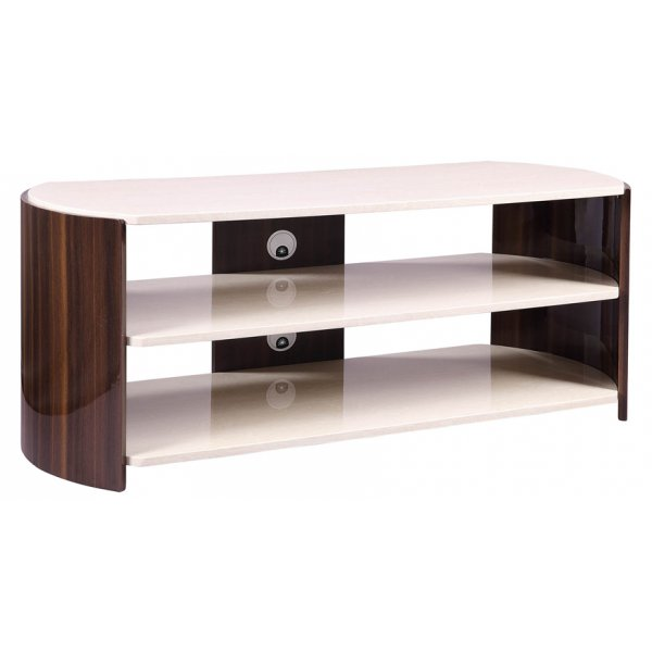 Jual JF901 Milan Gloss Walnut and Cream TV Stand For Up To 60""