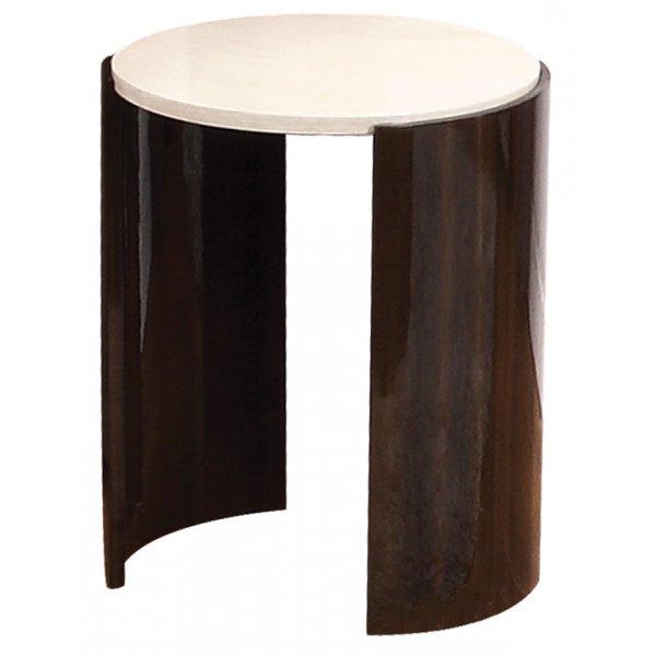 Jual JF903 Milan Gloss Walnut and Cream Large Lamp Table