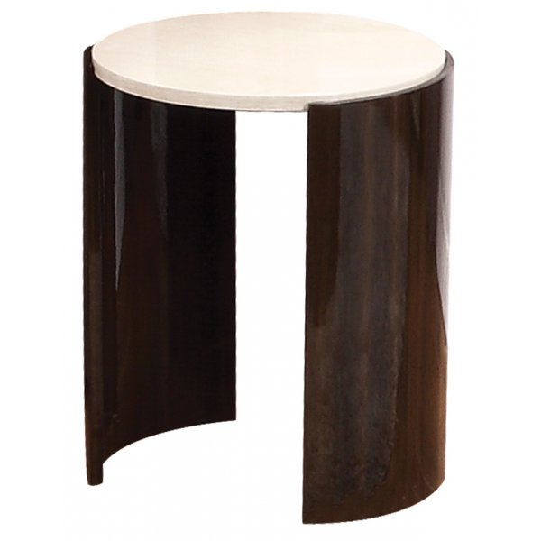 Jual JF903 Milan Gloss Walnut and Cream Large Lamp Table