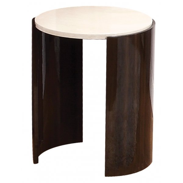 Jual JF904 Milan Gloss Walnut and Cream Small Lamp Table