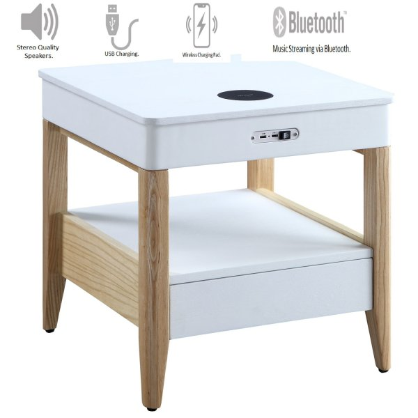 Jual JF402 San Francisco Bedside/Lamp Table with Speaker