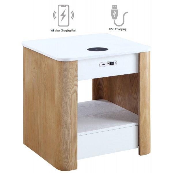 Jual JF403 San Francisco Bedside/Lamp Table with speaker - Ash