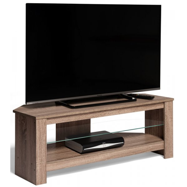 "AVF CA115GOX Calibre+ Corner TV Stand in Grey Oak - For Up To 55"" TVs"