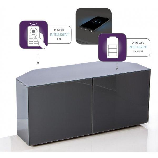 """Frank Olsen Intel 1100 Corner TV Cabinet For TVs Up To 55\"""" - Grey"""