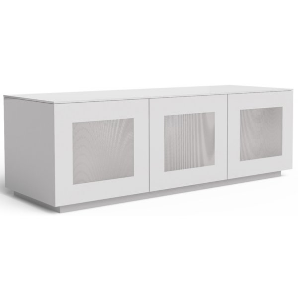 "Frank Olsen Chic CHIC140WHT White TV Stand for up to 60"" TVs"