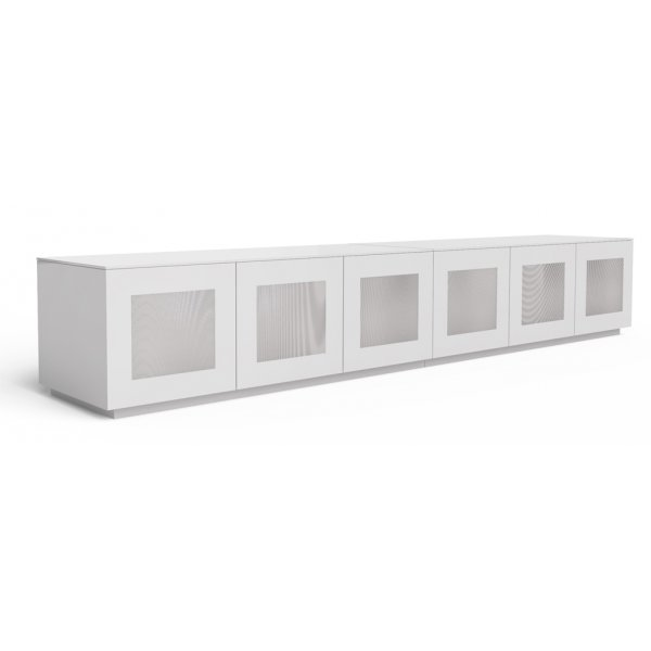"Frank Olsen Chic CHIC280WHT White TV Stand for up to 85"" TVs"