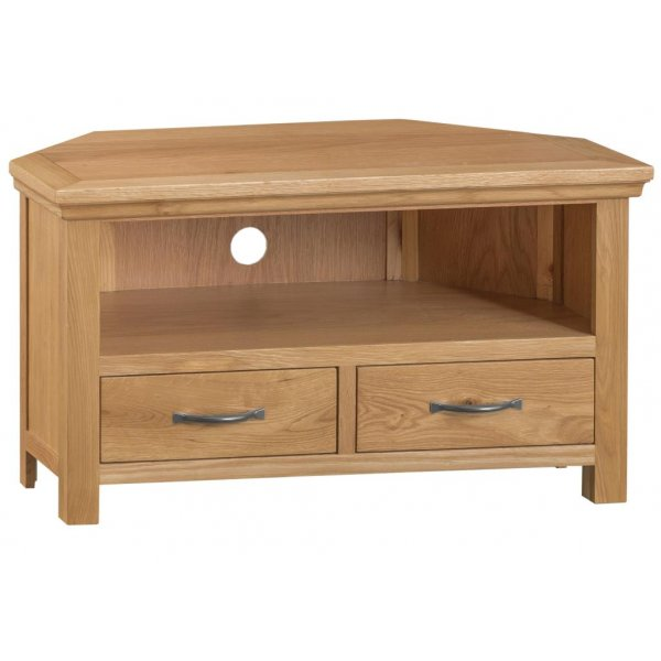 Ultimum Dartmoor 2 Drawer Corner Unit in Oak
