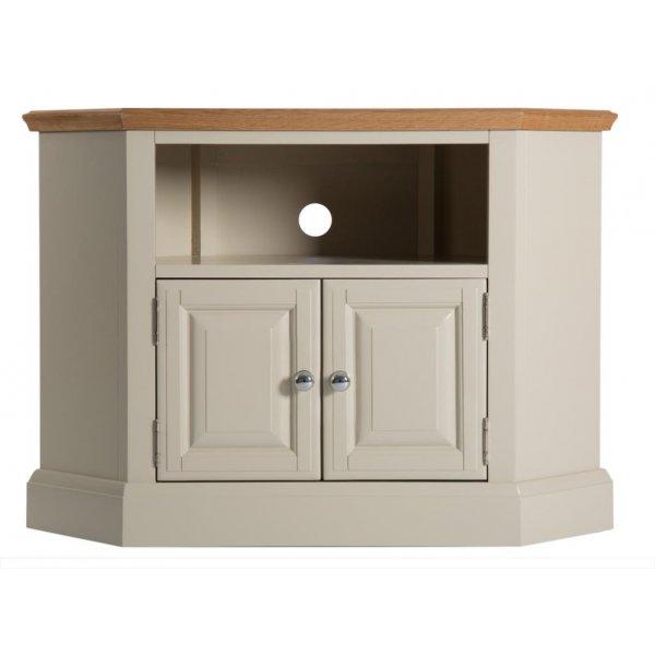 Ultimum Pennine Tall Corner TV Cabinet in Grey/Oak