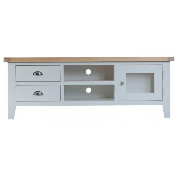 Ultimum Grasmere Large TV Cabinet in Grey/Oak