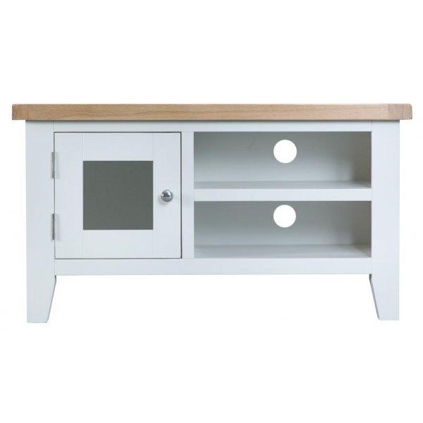 Ultimum Grasmere TV Cabinet in White/Oak