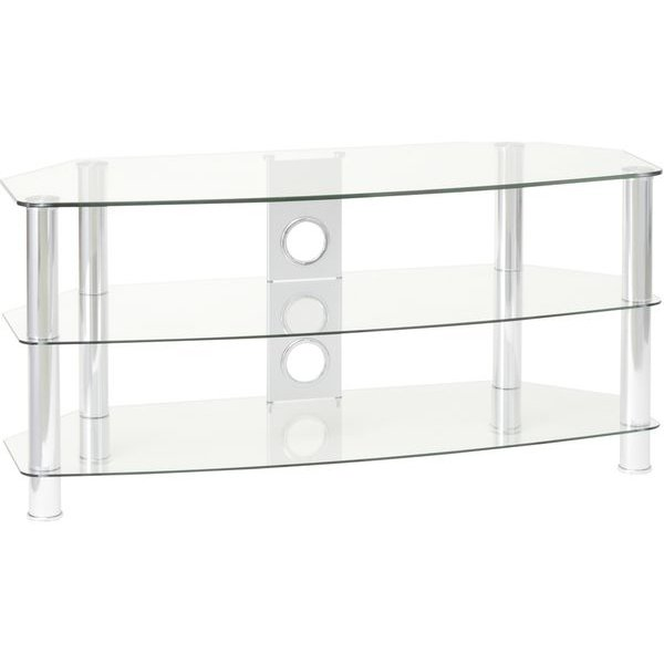 TTAP Vantage 800 Clear Glass TV Stand For Up To 32""