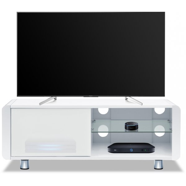 "Centurion Supports  Amalfi TV Cabinet For Up To 55"" TVs - Gloss White"