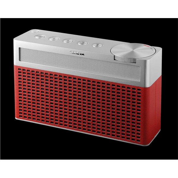 Geneva Touring S+ Red Digital Radio with Bluetooth