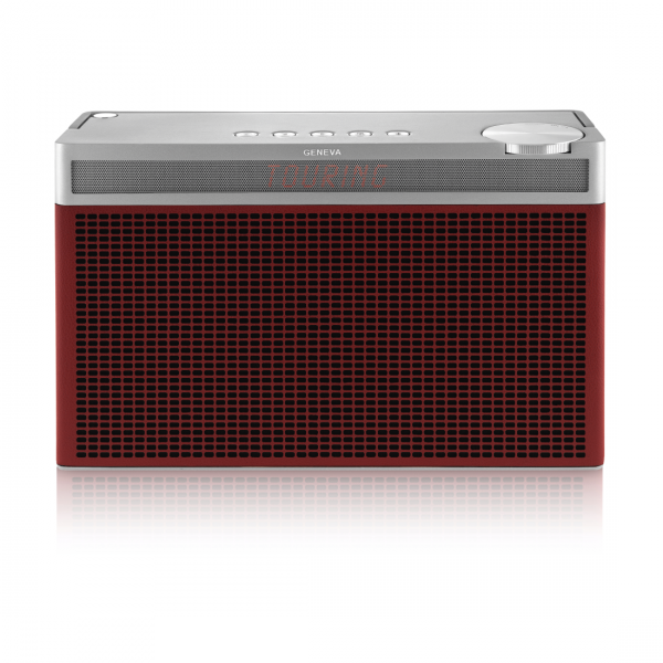 Geneva Touring L Red Digital Radio with Bluetooth