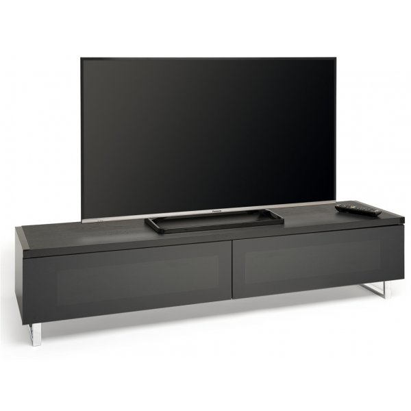 "AVF PM160WB Panorama Dual Top TV Stand For TVs up to 80"" - Black/Walnut"