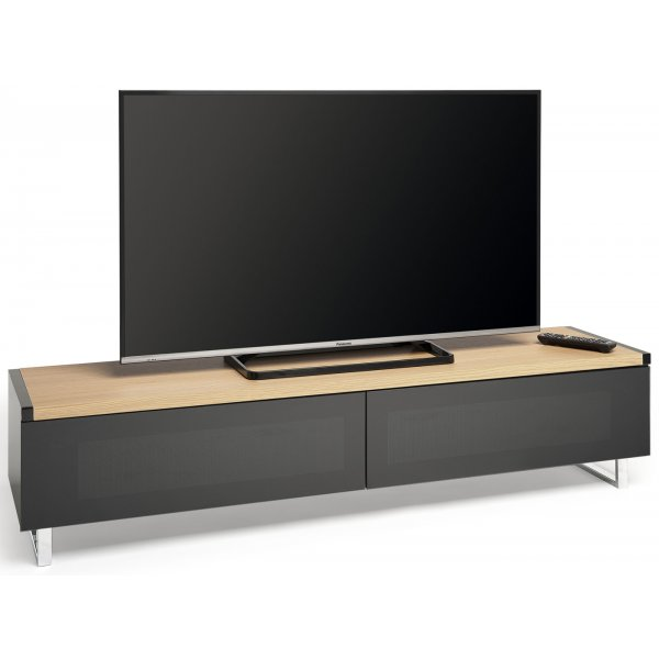 "AVF PM160LOGO Panorama Dual Top TV Stand For TVs up to 80"" - Light Oak/Grey Oak"