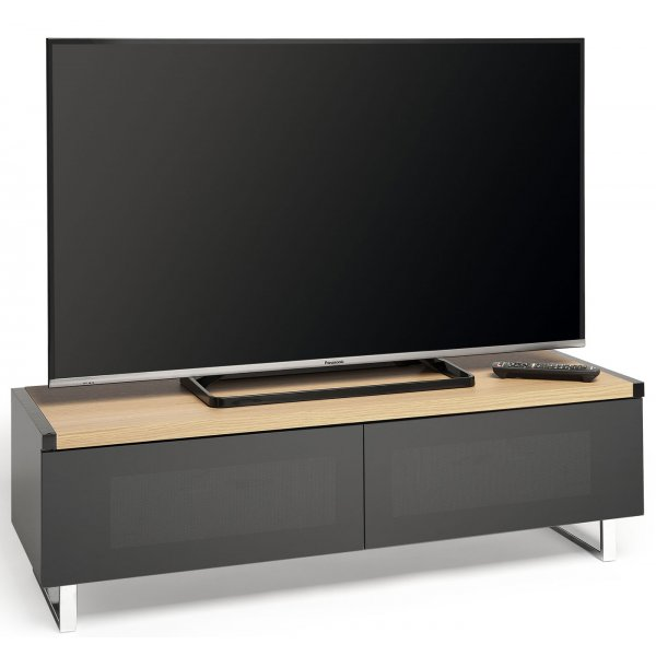 "Techlink Panorama PM120LOGO Dual Top For Screens up to 60"" - Light Oak"