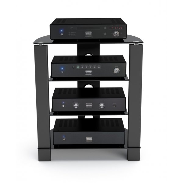 TNW Vision 4 Shelf Hi-Fi Stand - Black