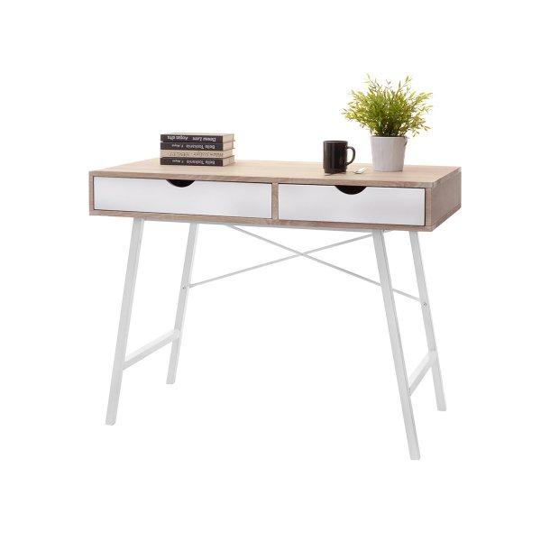 Selsey Falun Scandinavian Desk - White/Sonoma