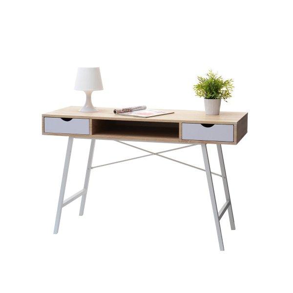 Selsey Gavle Scandinavian Desk - White