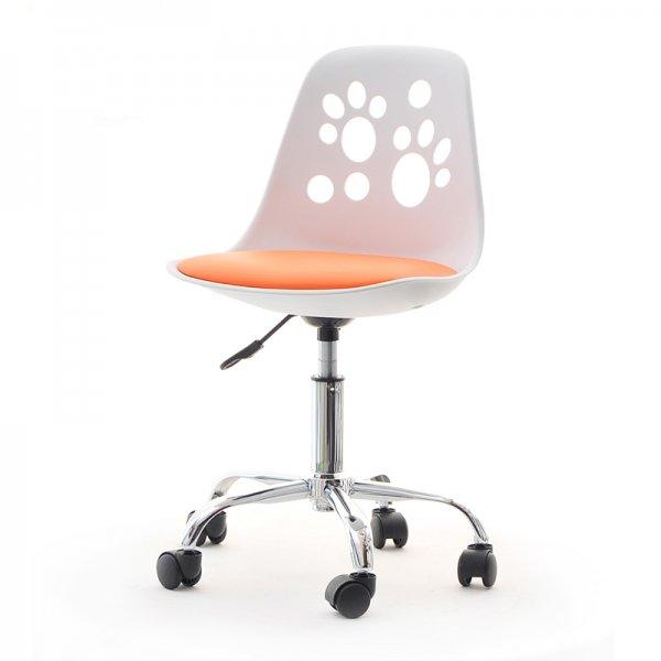 Selsey Foot Modern Chair for Children\'s Desk White/Peach