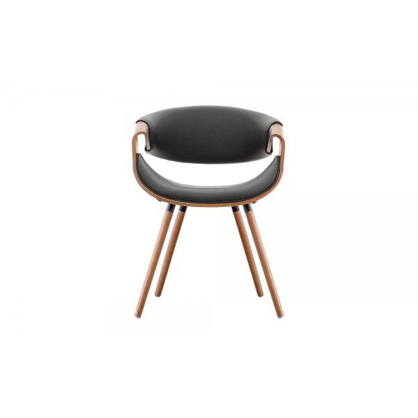 Selsey Bent Walnut Chair - Black