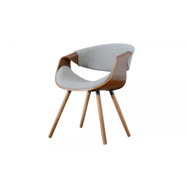 Selsey Bent Walnut Chair - Grey