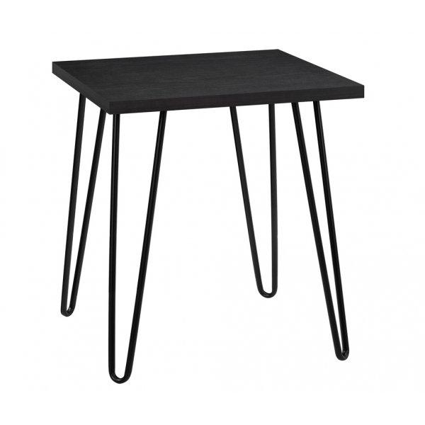 Dorel Owen Retro End Table - Black Oak