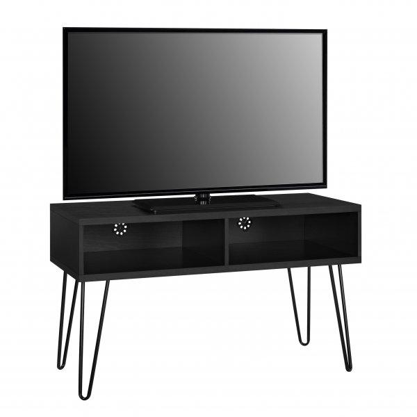 """Dorel Owen Retro TV Stand For 50\"""" TVs - Black Oak"""