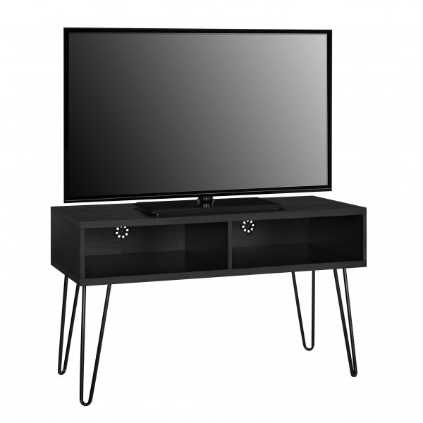 "Dorel Owen Retro TV Stand For 50"" TVs - Black Oak"