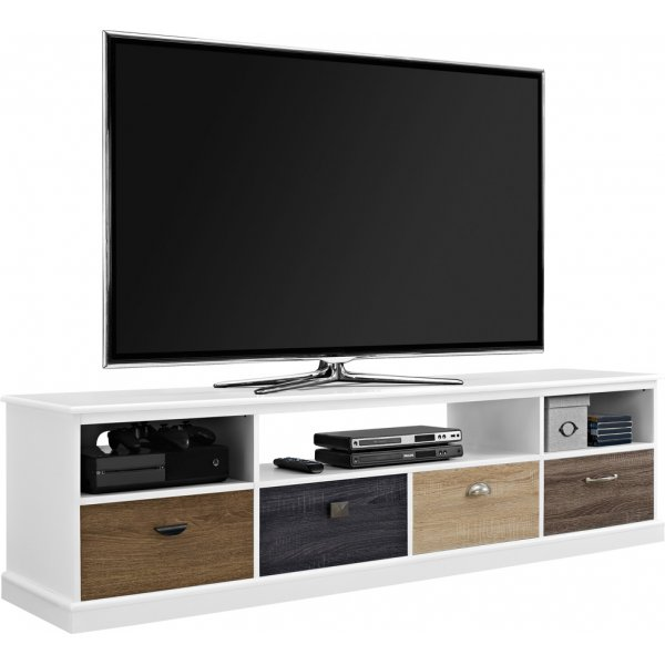 "Alphason Mercer TV Console For 65"" - White"