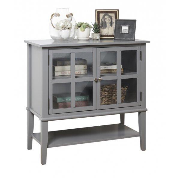 Dorel Franklin 2 Door Storage Cabinet - Grey