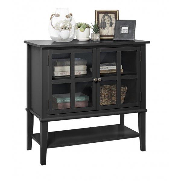 Dorel Franklin 2 Door Storage Cabinet - Black
