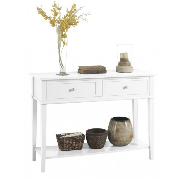 Dorel Franklin Console Table - White