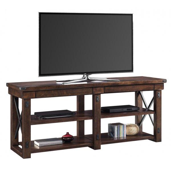 """Dorel Wildwood Wood Veneer TV Stand For 65\"""" - Espresso"""