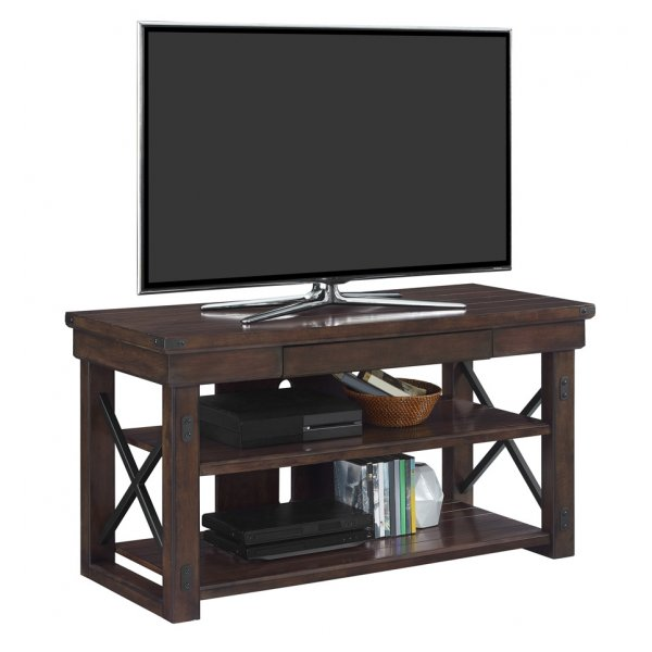 "Dorel Wildwood Wood Veneer TV Stand For 50"" - Espresso"
