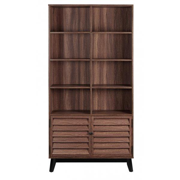 Dorel Vaughn Bookcase - Walnut