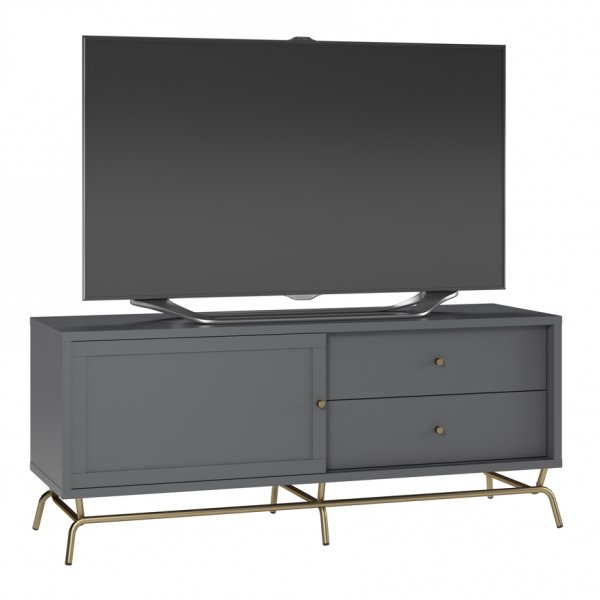 """Dorel Madison TV Console For 65\"""" - Graphite Grey"""