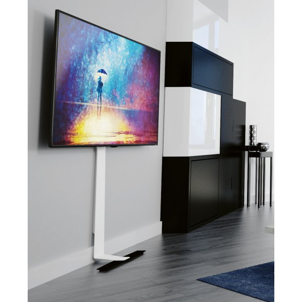 "AVF FL601LT Against the wall Standing TV Mount with Tilt for up to 80"" TVs - Black/White"