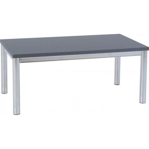 Valufurniture Charisma Coffee Table - Grey Gloss/Chrome