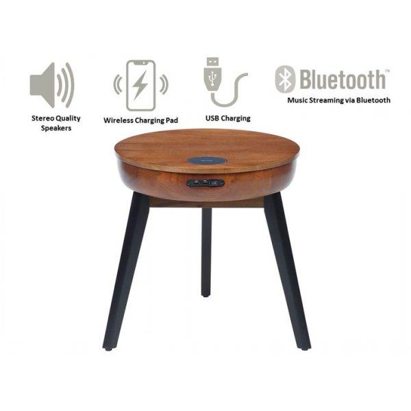 Jual JF710 San Francisco Smart Lamp Table - Walnut
