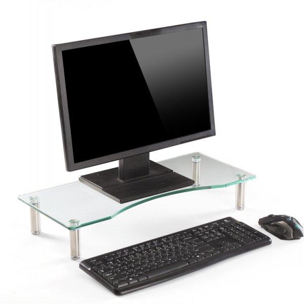 TTAP MP1003 Glass Monitor Riser - Clear