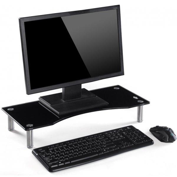 TTAP MP1004 Glass Monitor Riser - Black